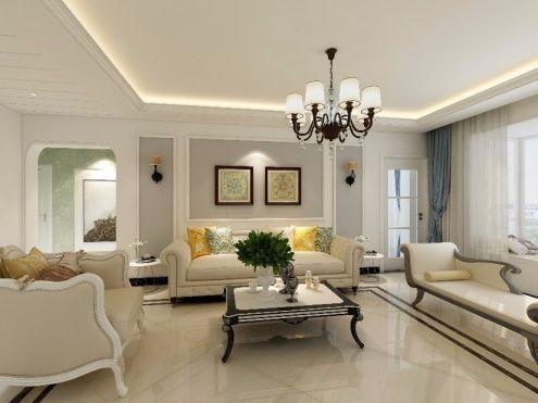 163平欧式田园风格四居室装修效果图