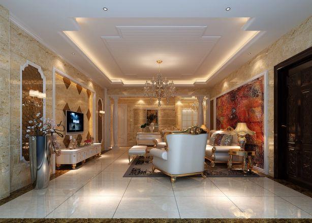 2018欧式90平米装饰设计 2018欧式三居室装修设计图片