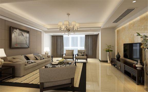 简约风格130平米楼房室内装修效果图