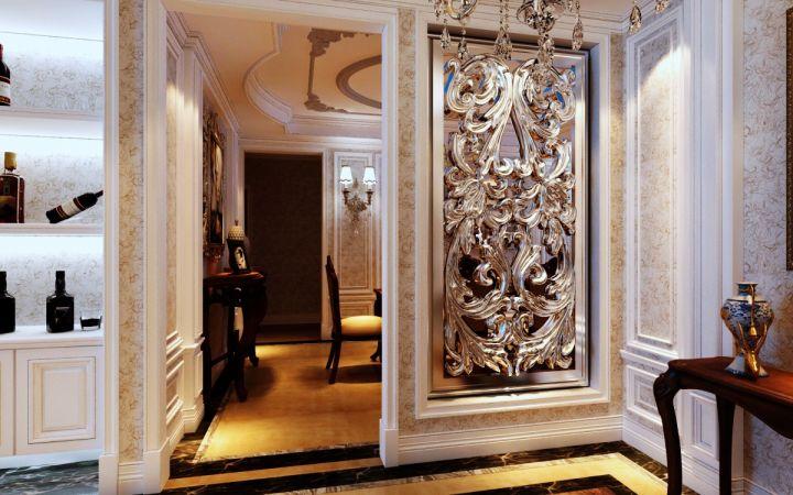 玄关白色门厅现代欧式风格装修图片