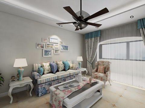 客厅彩色沙发田园风格装修效果图