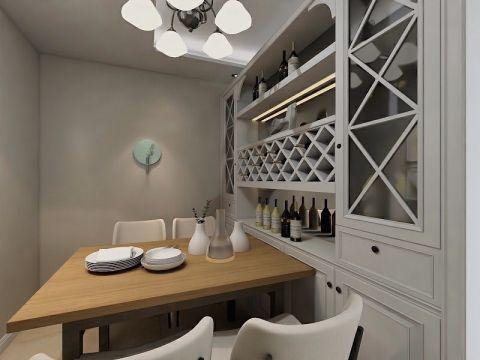 餐厅咖啡色餐桌田园风格装饰效果图