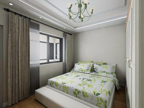 卧室白色衣柜田园风格装修图片
