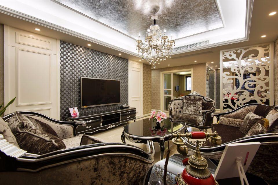 新古典風格130平米三室兩廳新房裝修效果圖
