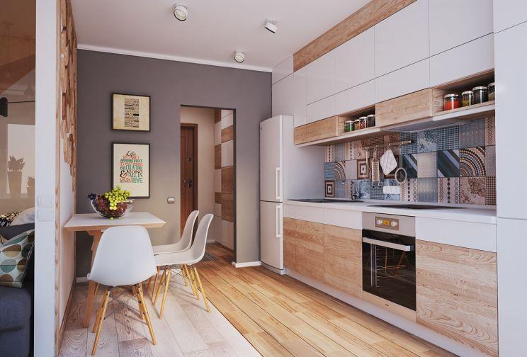 現代簡約風格70平米兩室兩廳新房裝修效果圖