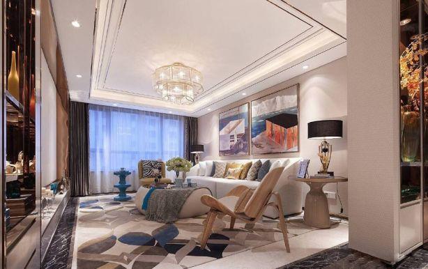 147平现代简约风格三居室装修效果图