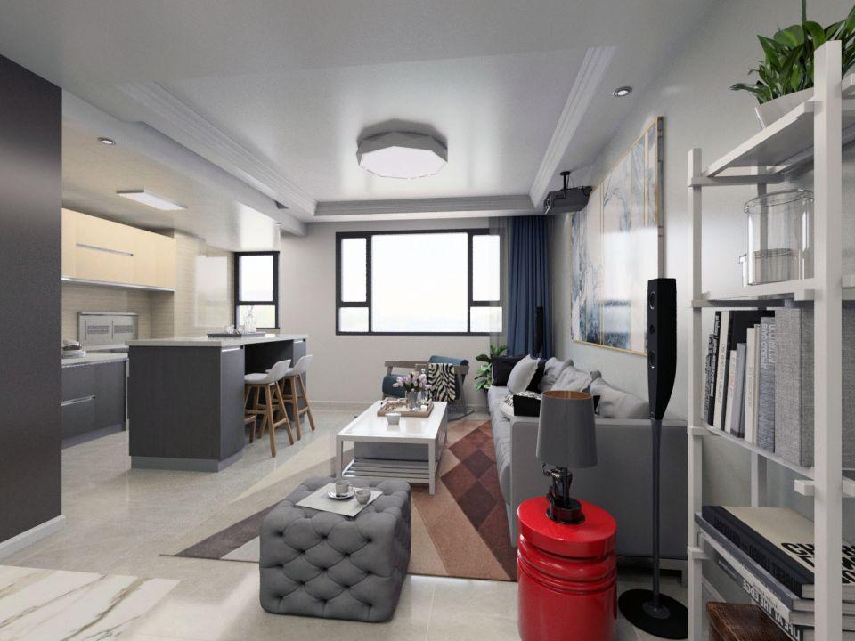 美轮美奂客厅新中式吸顶灯室内装饰