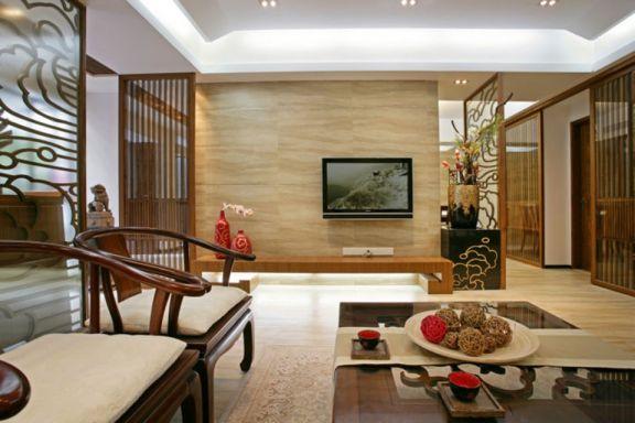 120平古典风格四居室装修效果图