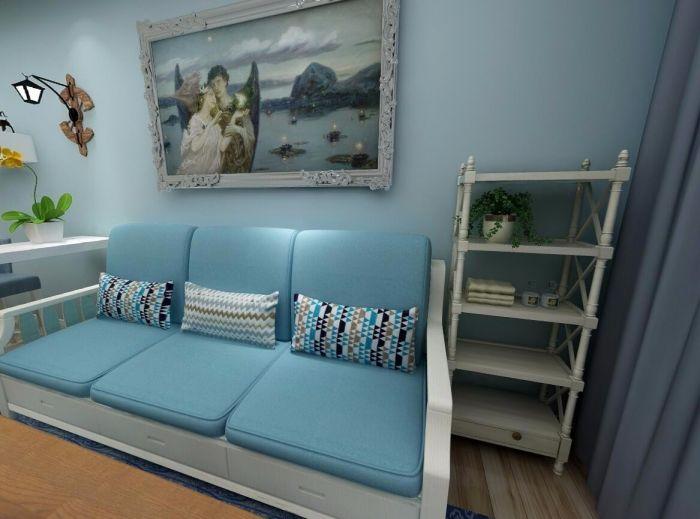 89平地中海风格两居室装修效果图