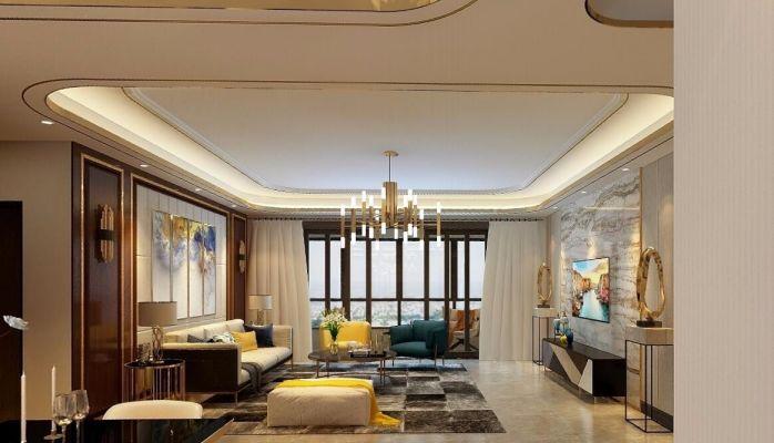 2020后现代110平米装修设计 2020后现代四居室装修图