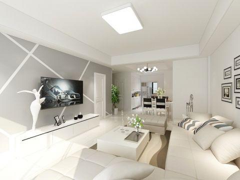 2019现代简约90平米装饰设计 2019现代简约公寓u乐娱乐平台设计