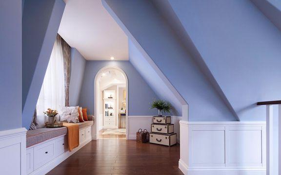 个性起居室阁楼装修案例图片