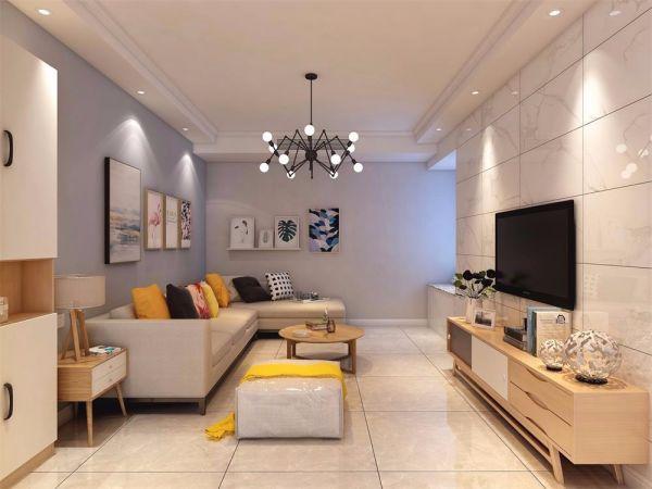 120平北欧风格三室两厅装修效果图