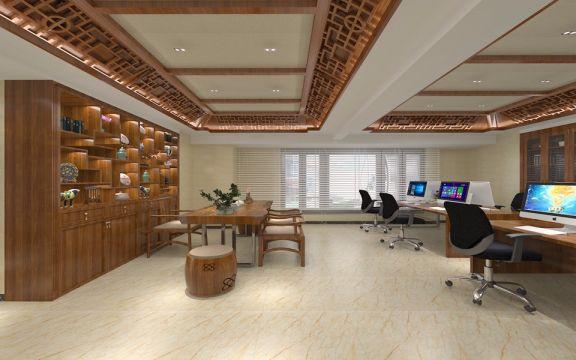中式風格辦公室裝修效果圖