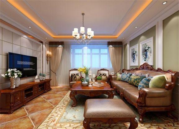 137平美式风格三居室装修效果图