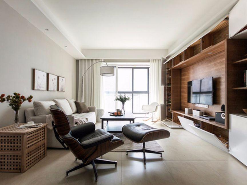 126平田园风格三居室装修效果图