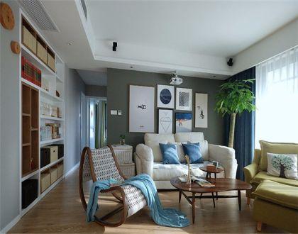 139平简约风格三居室装修效果图
