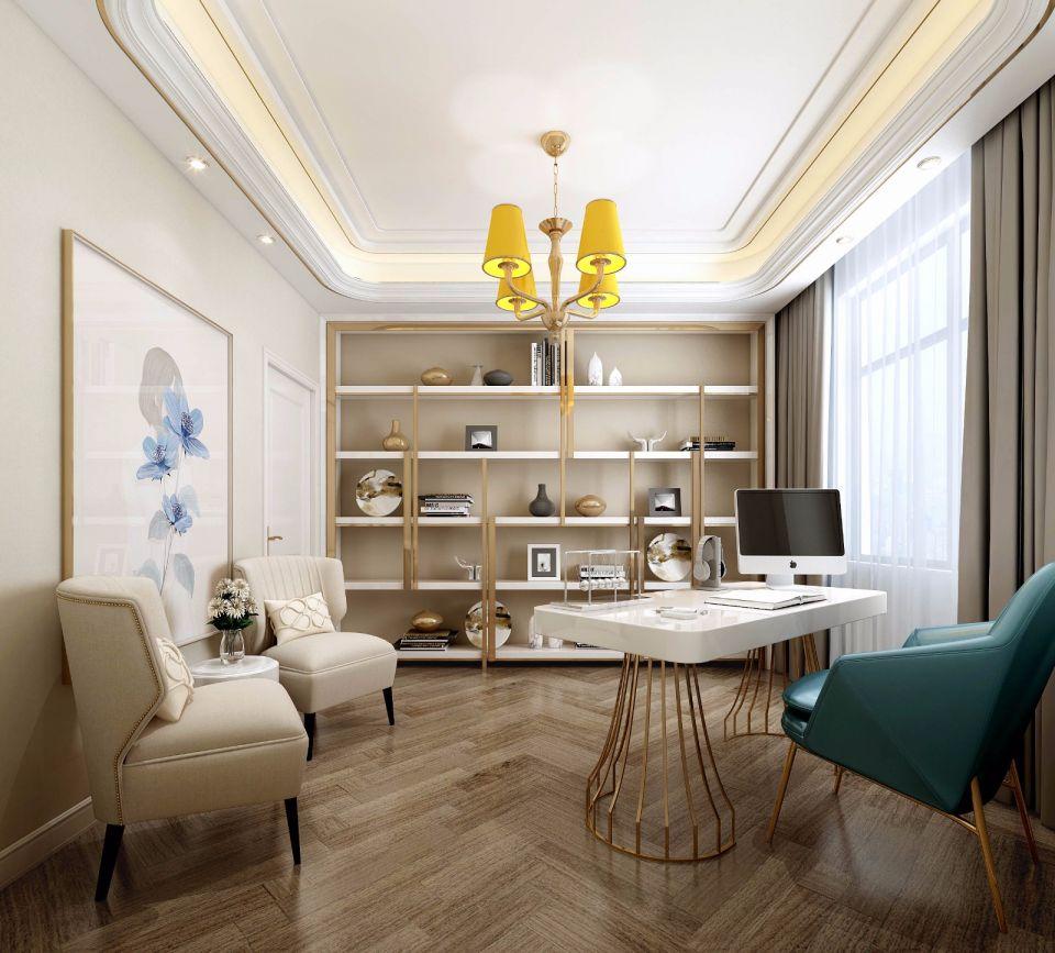 134平欧式风格三居室装修效果图