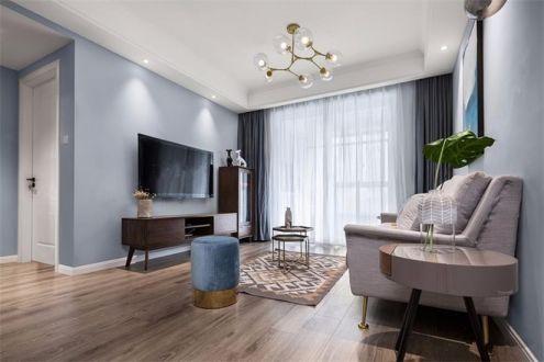 63平简欧风格两居室装修效果图