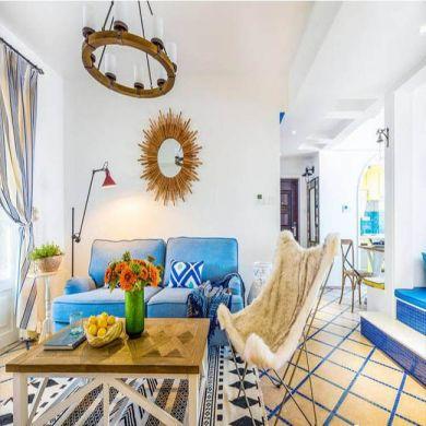 93平地中海风格两居室装修效果图