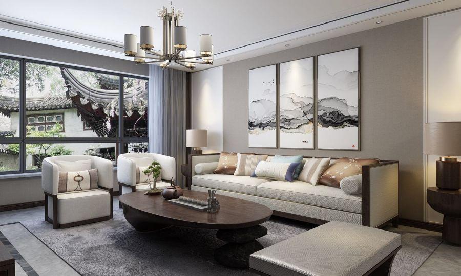 2018美式150平米效果图 2018美式三居室装修设计图片