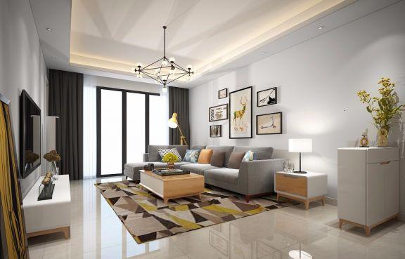96平简欧风格三居室装修效果图