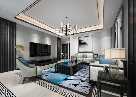 2019新中式70平米设计图片 2019新中式三居室u乐娱乐平台设计图片