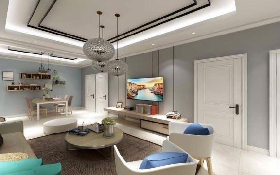 109平北欧风格三居室装修效果图