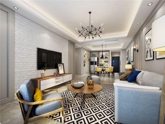 127平北欧风格三居室装修效果图