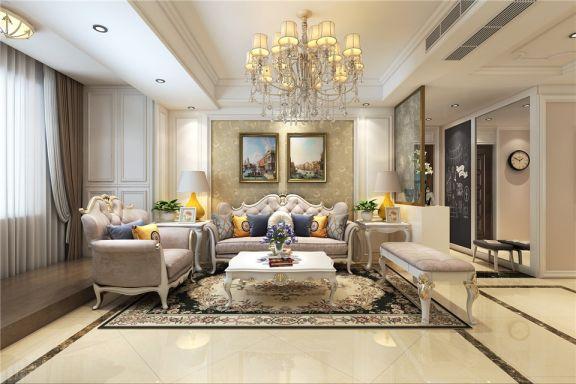 140平欧式风格三居室装修效果图