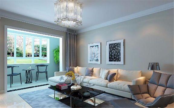 103平现代简约风格三居室装修效果图