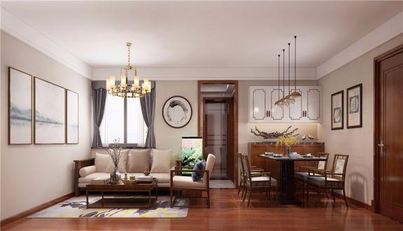 80平新中式风格两居室装修效果图