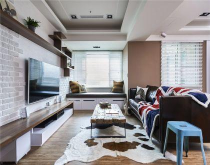 99平田园风格两居室装修效果图