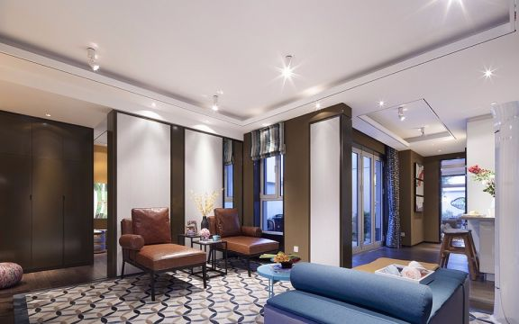 2020美式90平米装饰设计 2020美式三居室装修设计图片