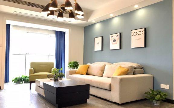 92平北欧风格三居室装修效果图