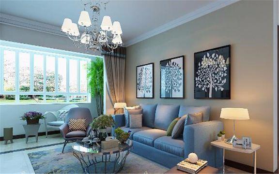114平地中海风格三居室装修效果图