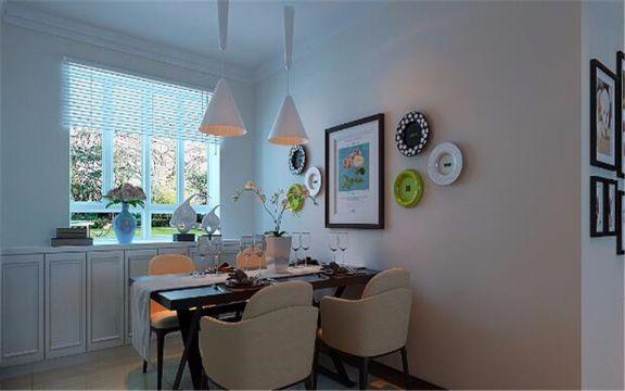 餐廳黑色餐桌地中海風格裝飾圖片