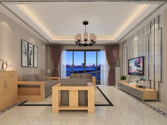 2019现代中式70平米设计图片 2019现代中式二居室u乐娱乐平台设计