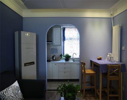 廚房白色櫥柜地中海風格裝修設計圖片