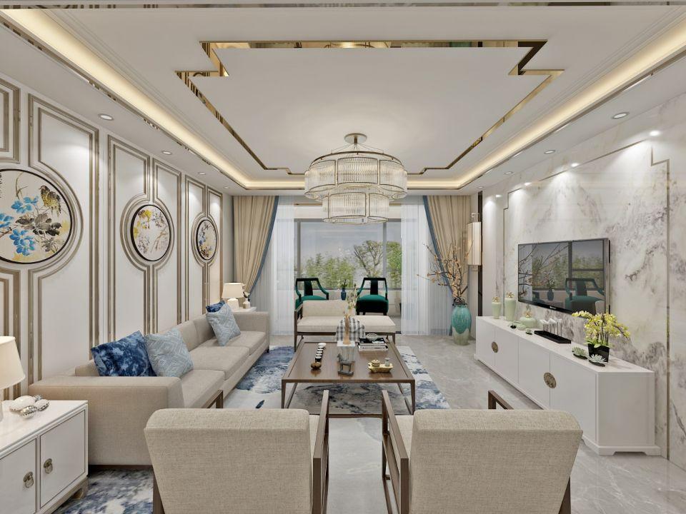 2019新中式150平米优乐娱乐官网欢迎您 2019新中式公寓u乐娱乐平台设计