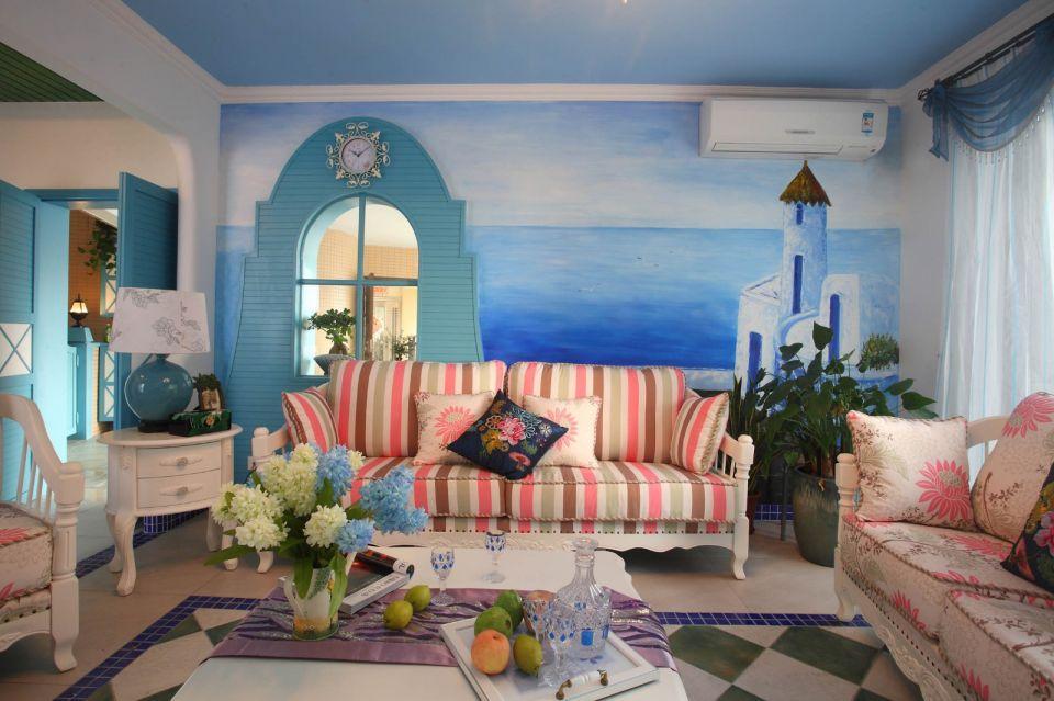 164平地中海风格三居室装修效果图