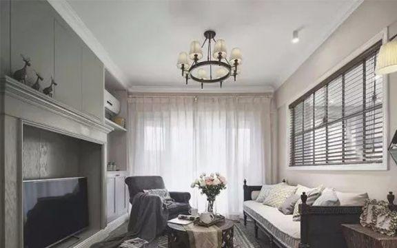 169平美式风格三室两厅装修效果图