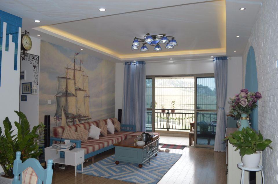 144平地中海风格三居室装修效果图