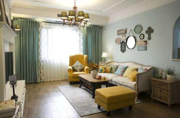 89平田园风格两居室装修效果图