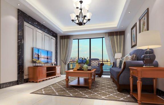 79平古典風格兩居室裝修效果圖