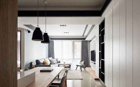 2018现代简约70平米设计图片 2018现代简约二居室装修设计