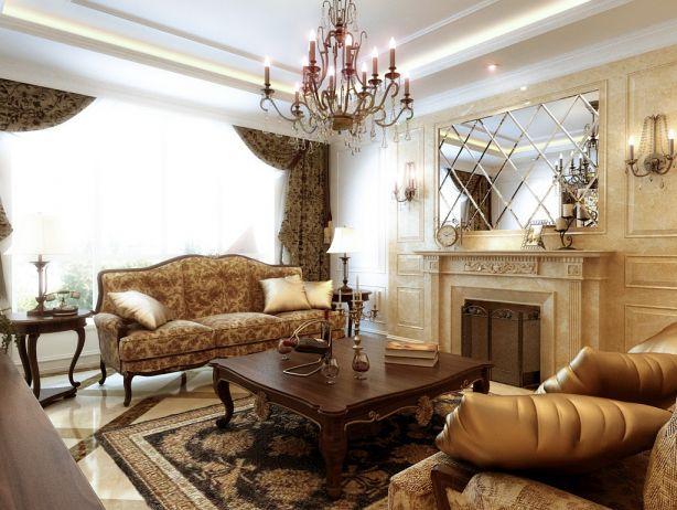 292平美式风格四居室装修效果图