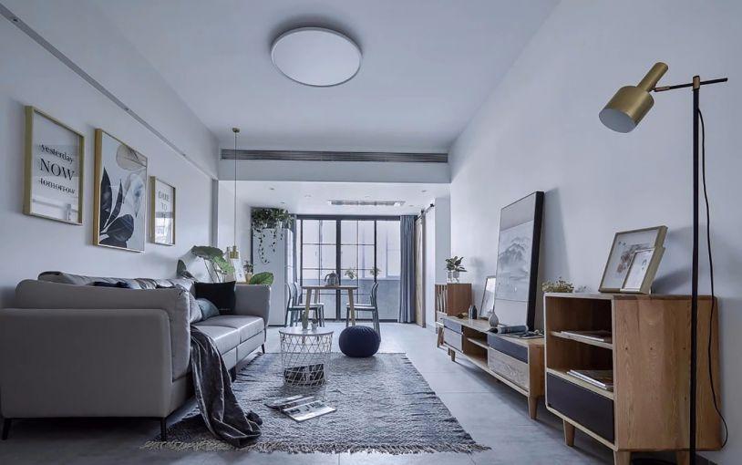 96平简约风格三居室装修效果图