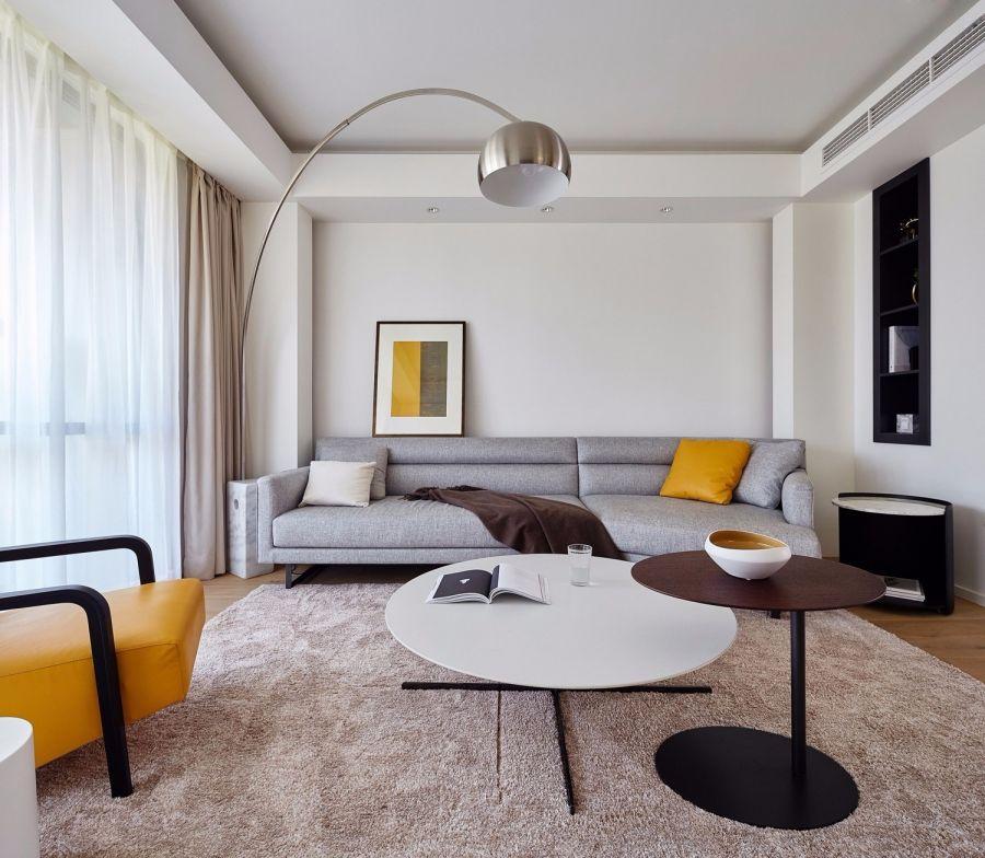 93平简约风格两居室装修效果图