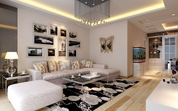 116平现代简约风格三居室装修效果图